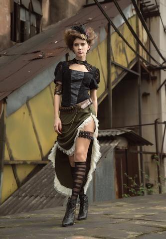 14cb2f440f8 Steampunk Dress Victorian Skirt Womens Gothic Clothing Renaissance Pirate  Costume