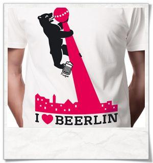Ich liebe Berlin ;)  I love Berlin /  Bier / Beer /  /  TV Turm Alexanderplatz / Berlin TV Tower / Fair / Biobaumwolle #Männergeschenke #cool #berlin #Fernsehturm #bier #beer