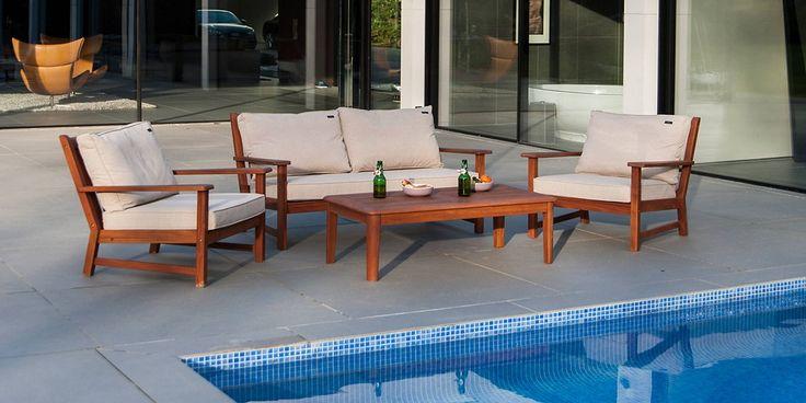 Wooden Garden Sofa Set