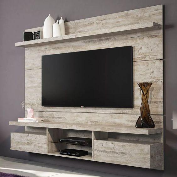 painel home theater suspenso livin 2.2 aspen - hb móveis