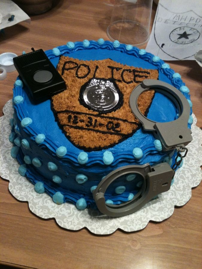 police birthday cake idea