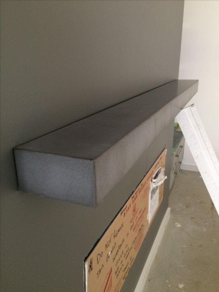 Polished concrete mantle/shelf by Mitchell Bink Concrete Design. www.mbconcretedesign.com.au
