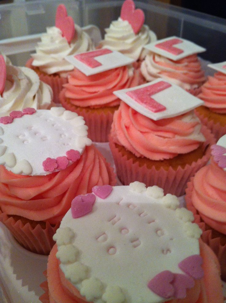Hen party cupcakes made for a friend.. The big cake that accompanied them is for adults eyes only lol..