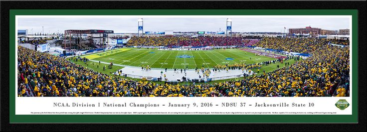 2016 NCAA FCS Football Championship Panoramic Picture - Select Frame $169.95