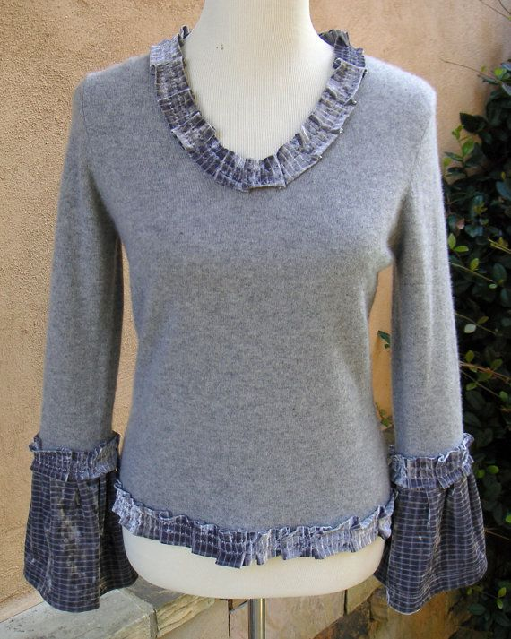 Women's Small Upcycled Pullover Sweater by ...