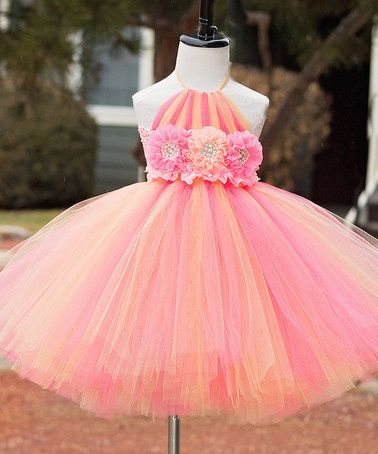 This Pink Feeling Peachy Dress - Infant, Toddler & Girls by Tutu's Galore is perfect! #zulilyfinds