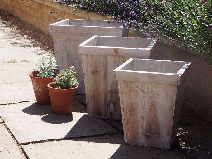 grandes jardineras de madera jardineras de madera aguada gris estilo shabby chic estilo rstico pastel