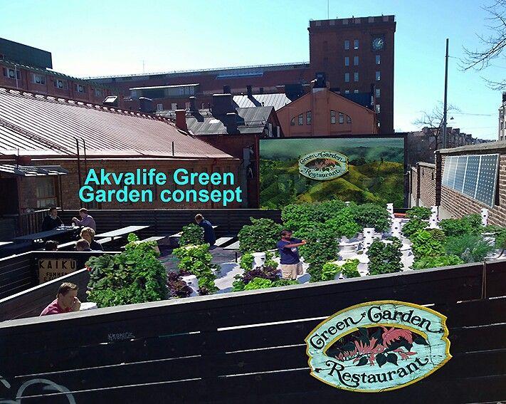 Akvalife green garden restaurant concept