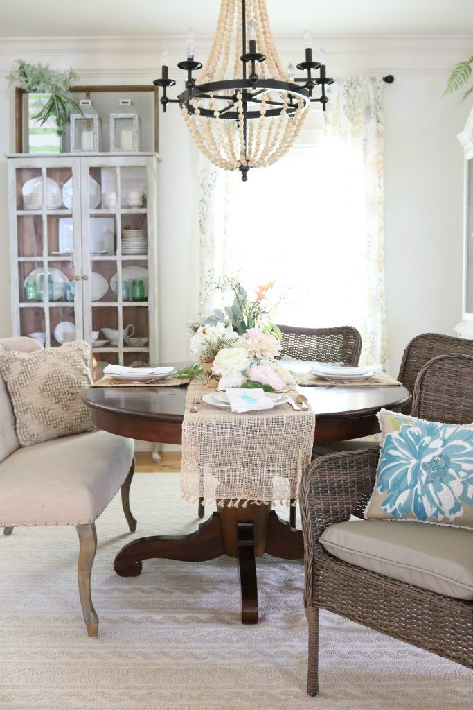 Affordable Dining Room Decor For That Casual Cottage Farmhouse