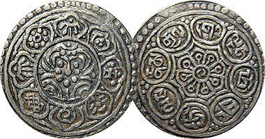 Tibet Ga-Den Thangka (Tangka) Coinage  1840 to 1953