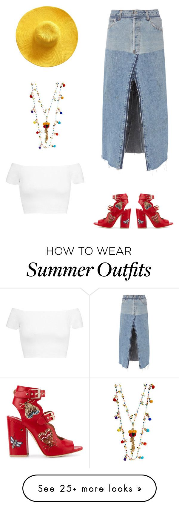 """""""Summer stunner"""" by gldlynch on Polyvore featuring Alice + Olivia, Rosantica, RE/DONE and Laurence Dacade"""