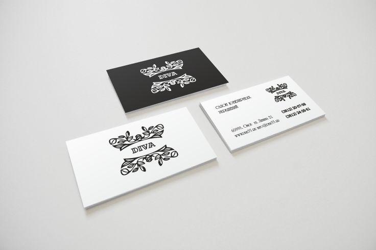 визитки для ювелирного салона Дива.
