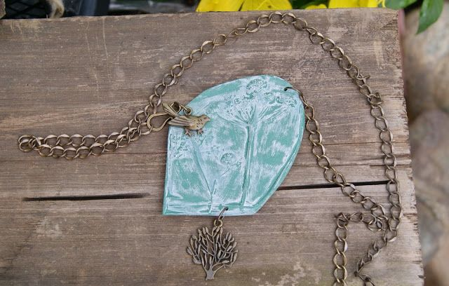 Лавандовый домик: Бохо Кулон-подвеска из полимерной глины