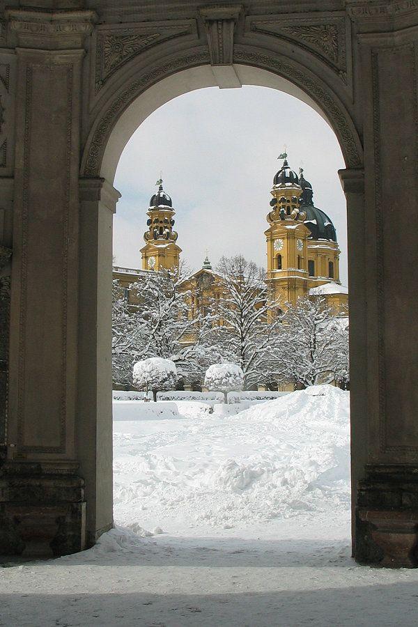 Theatinerkirche in winter. Munich.