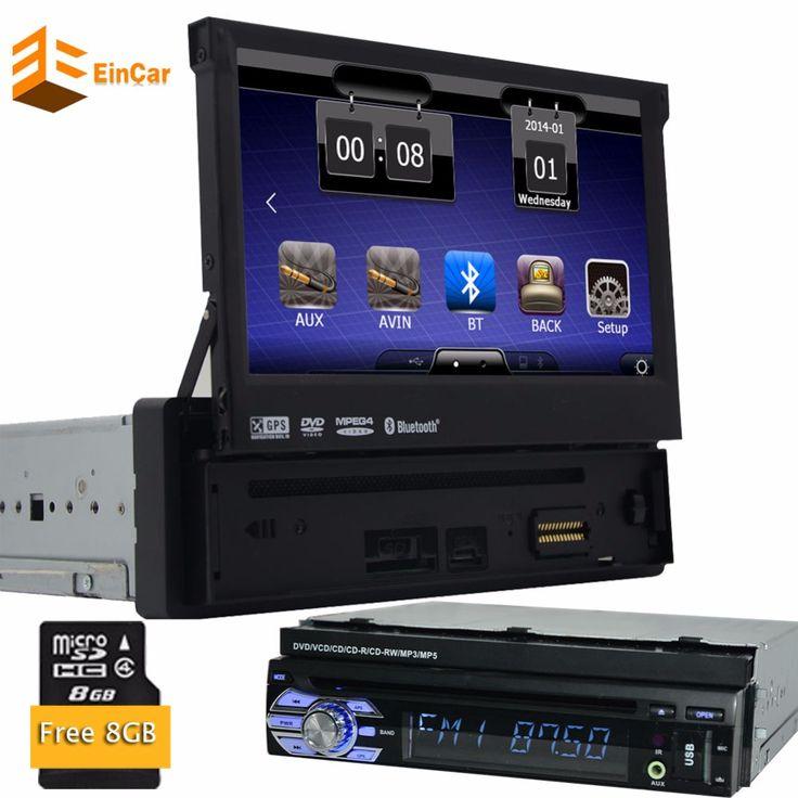 8GB Map 1 din Car Radio Stereo GPS Navigation Headunit Autoradio bluetooth Touchscreen Detachable Panel USB SD Aux Subwoofer FM //Price: $US $168.88 & FREE Shipping //     #hashtag3