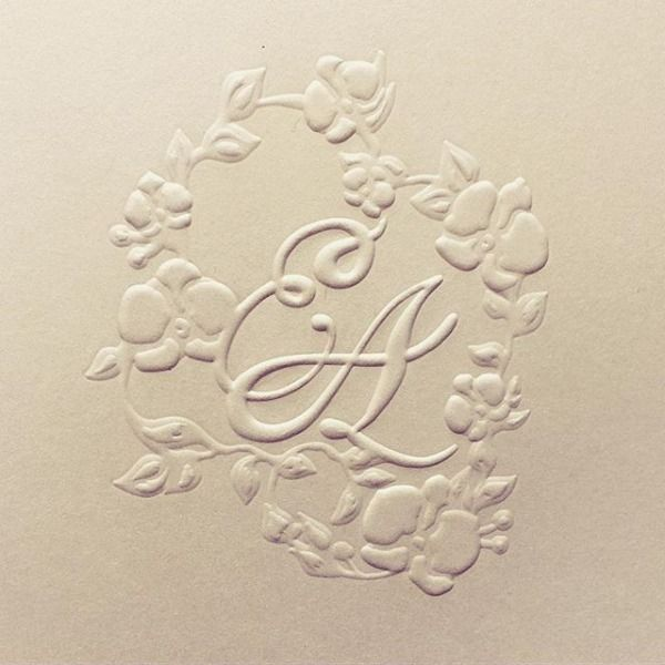 Close up of our blind embossed custom monogram designed for our #CeciBride Angelica in Singapore. I love this technique. So elegant. So chic. #cecinewyork #classicelegance #monogram #wedding #weddinglogo #orchid #classicwedding #weddingcards #weddinginvitation #invitation #customdesign #graphicdesign #embossed #blindembossed #beautifyyourworld