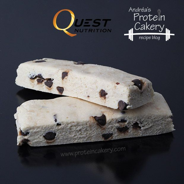 Vanilla Chip Protein Bars - Quest protein powder, coconut flour, vanilla extract, almond-coconut milk (might sub cashew), stevia-sweetened chocolate chips