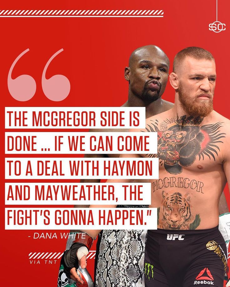 ICYMI: Dana White has a deal done with Conor McGregor. Now there's just one more step for a superfight with Floyd Mayweather.