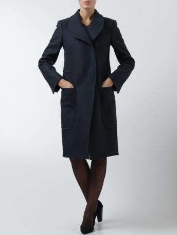 Carven-cappotto blu notte-night blue coat-Carven Fall Winter shop online