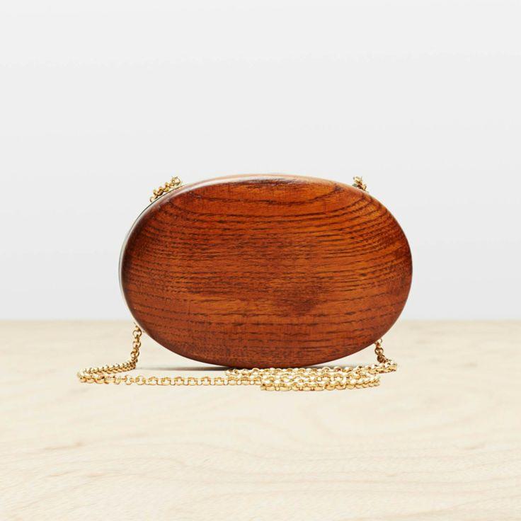 Wood Minaudiere in Mahogany/Brass by Trademark