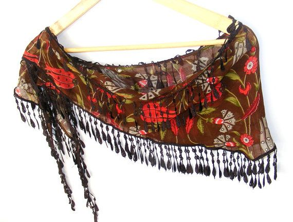 New Multicolor brown red green ScarfTurkish Fabric by scarvesCHIC, $12.90