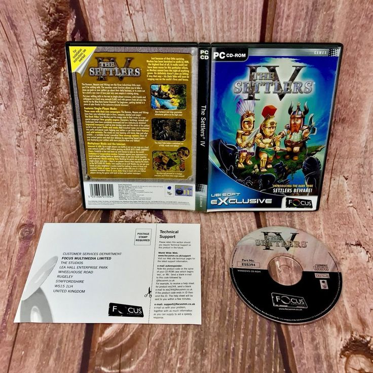 The Settlers IV 4 Four PC cd rom Game 2001 simulation Windows Blue Byte Software