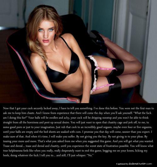 Chastity Tease and Denial Captions Orgasmdenial Femdom