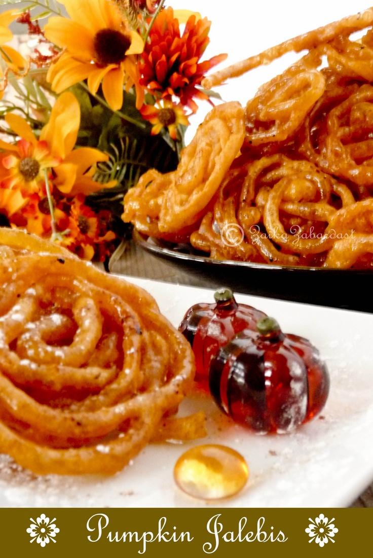 Pumpkin Jalebi - An Autumn twist to popular Indian dessert!