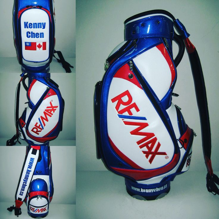 New custom made golf bag to promote my business #realestate #remax #golf #money