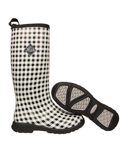 The Original Muck Boot Company Black Gingham Breezy Boot - Women   zulily