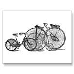 Bicicleta vieja de la moda del vintage postales