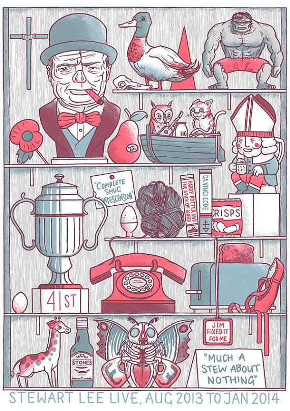 Stewart Lee Tour Poster 2013  LAST COPY by LukeDrozd on Etsy