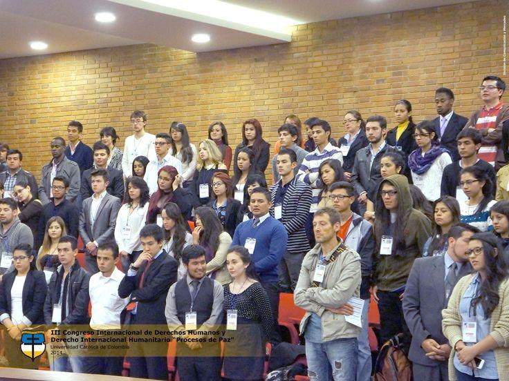 Primer día III Congreso Internacional de Derechos Humanos y Derecho Internacional Humanitario Universidad Católica de Colombia.