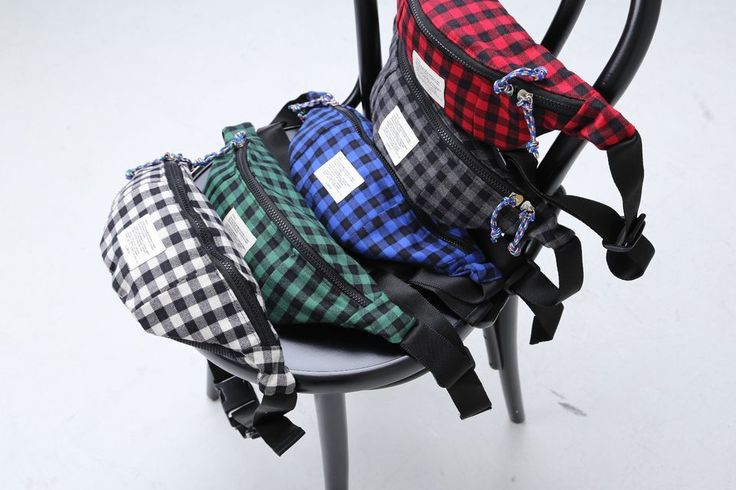 Korea Fashion Fanny Waist Pack Cross Shoulder Bag Check Cotton Hipsack Hip sack