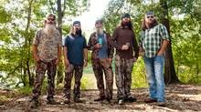 From left: Phil, Jep, Si, Jase and Willie Robertson, of the reality series Duck Dynasty, in West Monroe, La., Oct. 3, 2012. The A reality show about a Louisiana family that makes duck calls is growing in popularity. (JAMES PATTERSON /NYT)
