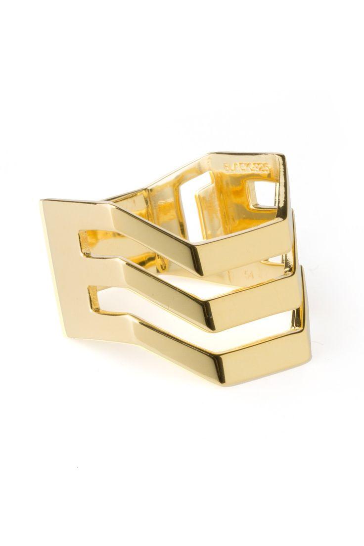 Maria Black Trinity Ring High Polished. www.styleserver.de