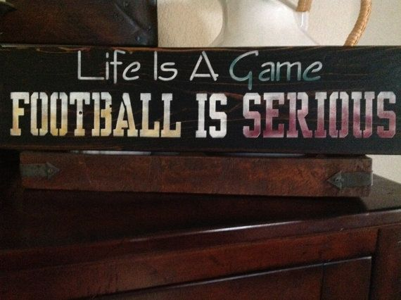 Life is a Game Football is Serious man cave game room by djantle