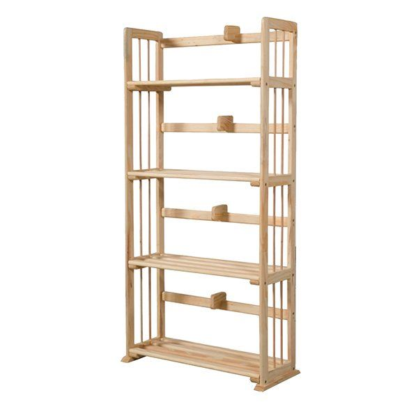 Sutton 119cm Etagere Bookcase Etagere Bookcase Solid Wood