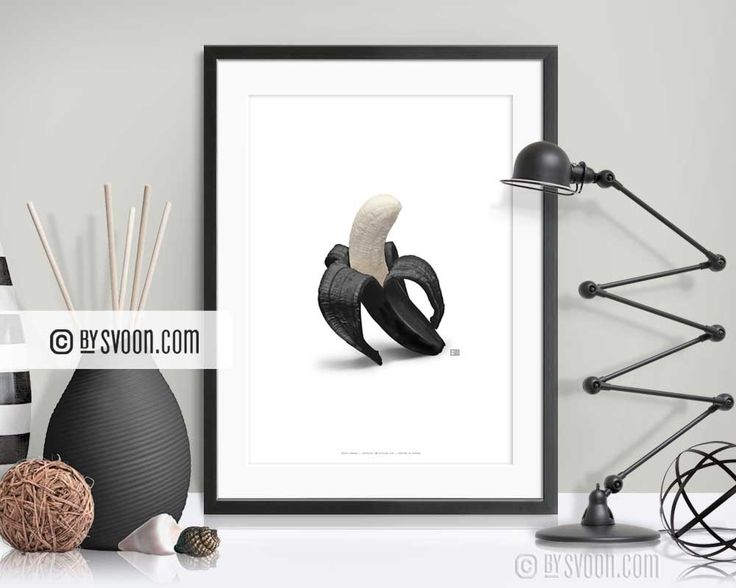 BLACK BANANA print - bySvoon - Simple does it. Fashion Prints for your home. www.bysvoon.etsy.com