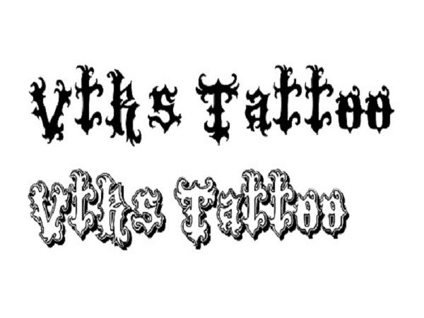 Cool Tattoo Fonts: Unique Vtks Tattoo Font Designs ~ tattooeve.com Tattoo Ideas Inspiration