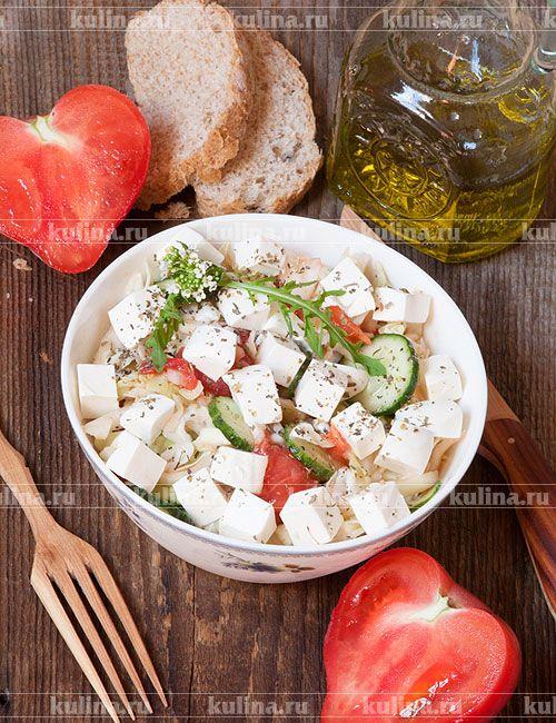 Салат с капустой и помидорами - рецепт с фото