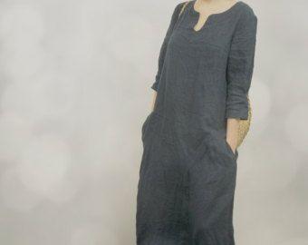 Vestido largo de lino