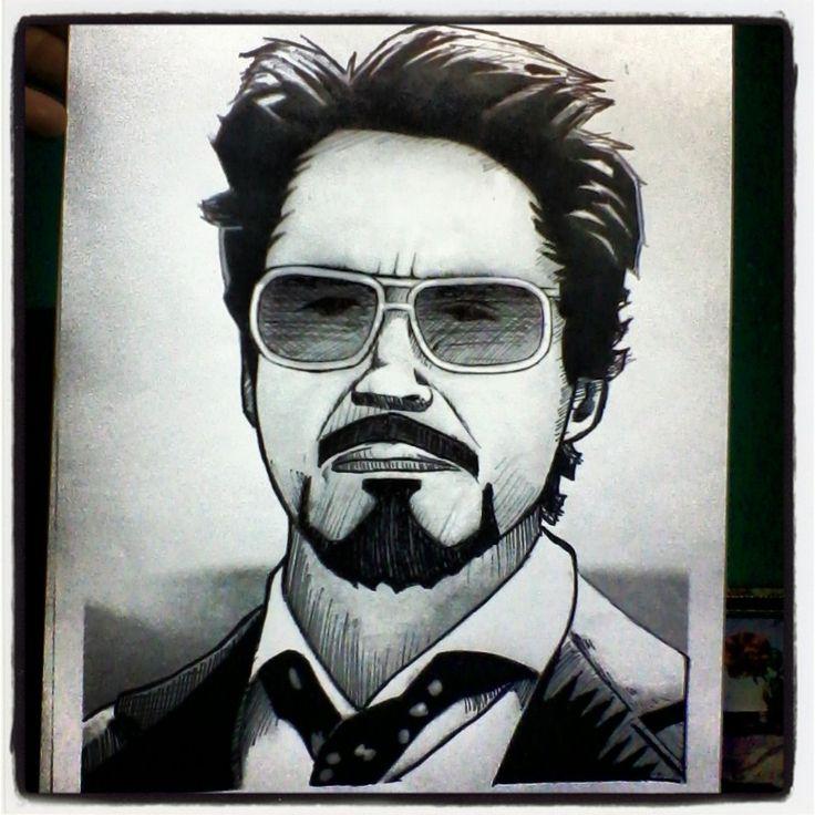 Tony Starks - Iron Man - Robert Downey Jr. #avengers #vengadores #marvel #capitánamerica #captainamerica #ironman #tonystarks #blackwidow #viudanegra #steverogers #robertdowneyjr #hulk #brucebanner #markruffalo #chrisevans #scarlettjohansson #natasharomanoff #ilustración #retratos #dibujo #draw #sketch #art #arte