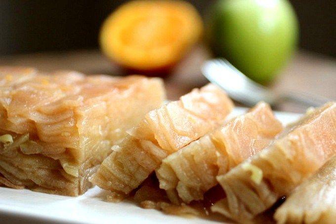 Postre de manzanas al horno