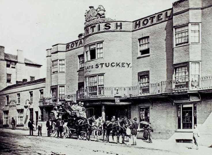Undated picture of the original Royal Kentish Hotel near the Pantiles which was demolished and replaced by the building which has since become Kentish Mansions.