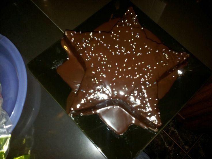 My microwave star cake