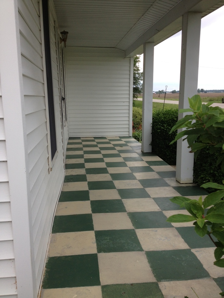 Stained concrete on the front porch | My projects ...