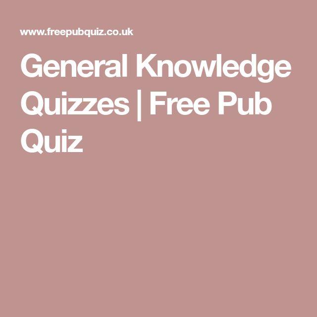 General Knowledge Quizzes | Free Pub Quiz