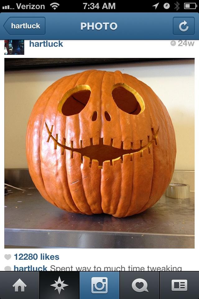 Carey Harts pumpkin...must copy this Halloween