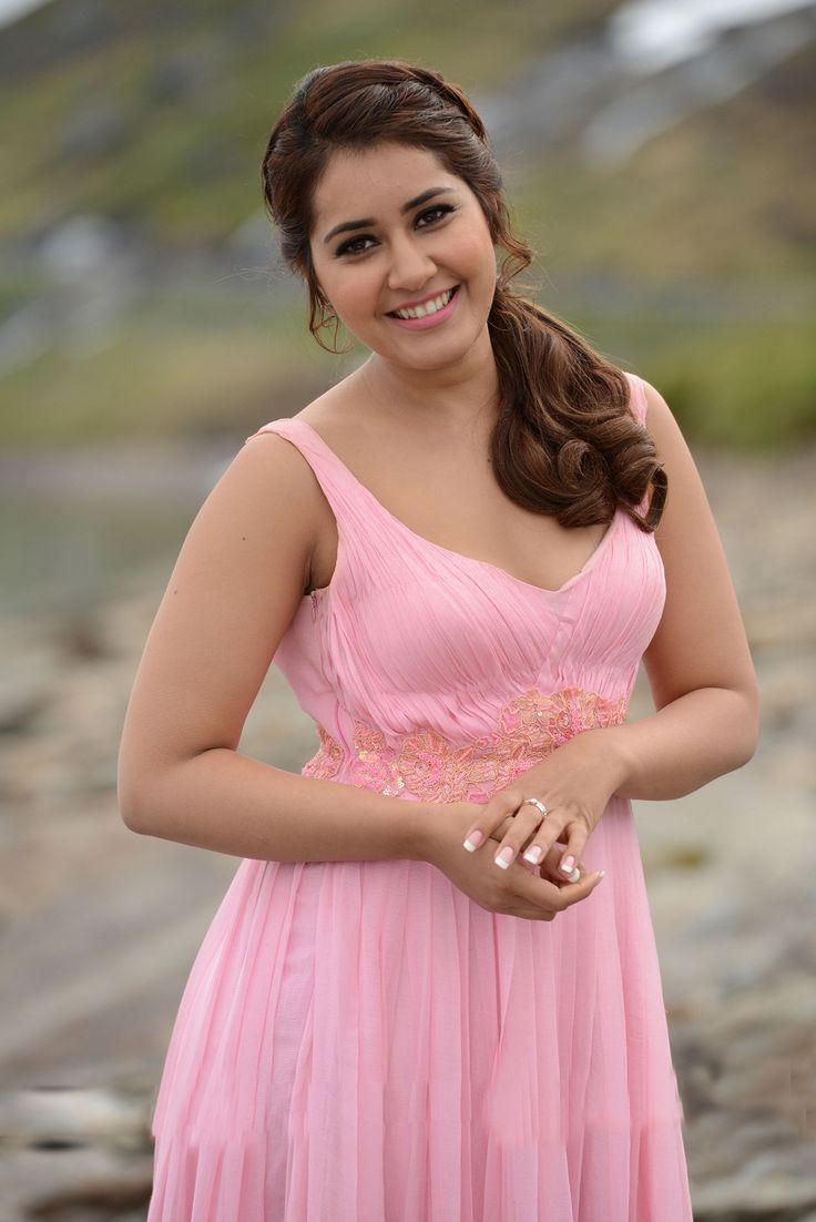Rashi Khanna Latest Hot Stills In Rose Color Dress - Raashi Khanna
